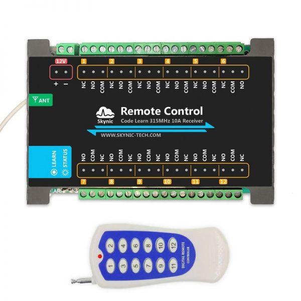 ریموت کنترل رادیویی 12 کانال به همراه گیرنده