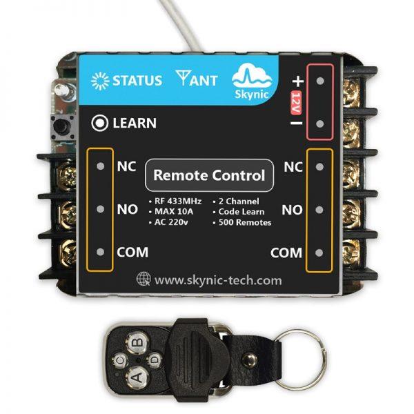 ریموت کنترل رادیویی دو کانال به همراه ریموت